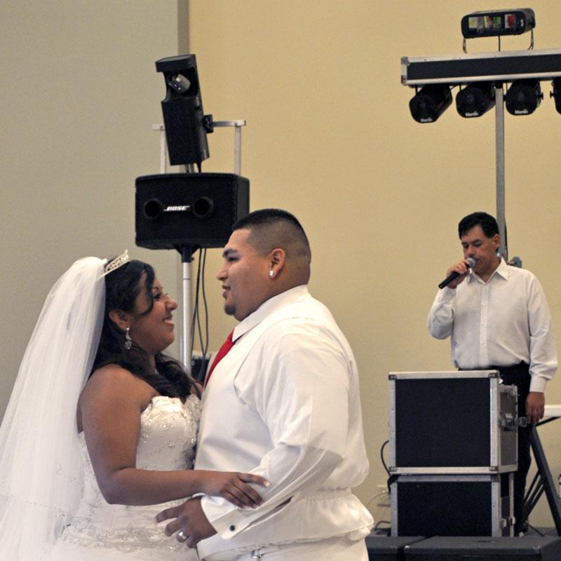 wedding dj announcing first dance